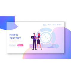 Agile development technology website landing page vector