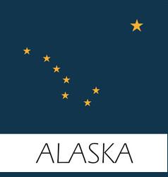Alaska state flag flat style vector