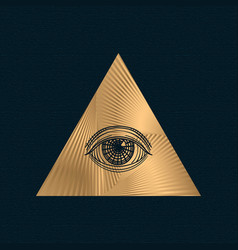 All seeing eye illuminati symbol in vector