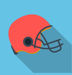 American football helmet icon in flate style vector