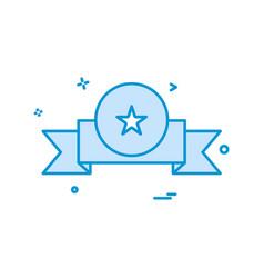 award badge icon design vector image
