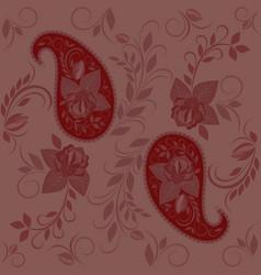 Bandana with paisley and roses vector