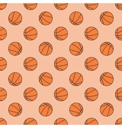 Basketball seamless pattern vector
