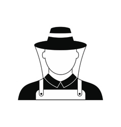 Beekeeper black simple icon vector