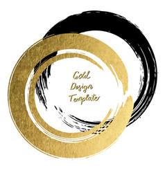 Black and gold brushstroke design templates for vector