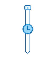 Blue icon vintage watch vector