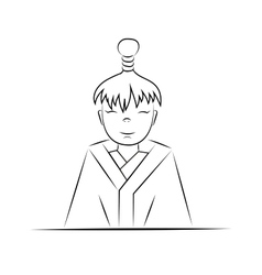 boy of Japan vector image