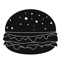 burger icon simple style vector image