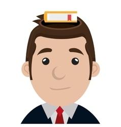 Business executive male concept icon vector