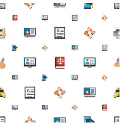 Business icons pattern seamless included editable vector