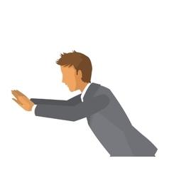 Businessman pushing icon vector