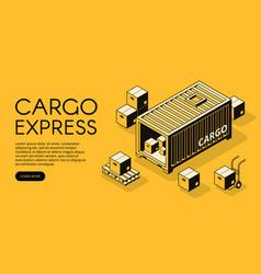 cargo logistics isometric vector image
