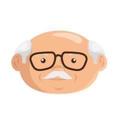 Cartoon grandfather icon vector