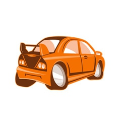 Cartoon style sports car isolated vector image