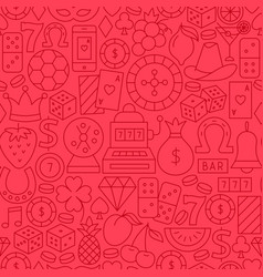 casino line seamless pattern vector image