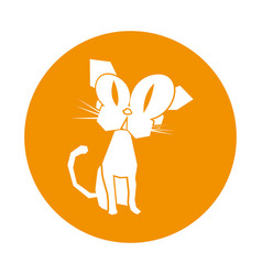 cat comic character icon vector image