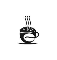 coffee cup bakery and coffee bean store vector image
