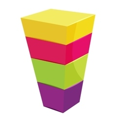 Color cubes stacked icon cartoon style vector