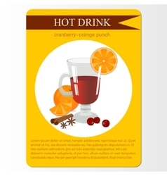 Cranberry orange punch menu item or sticker vector