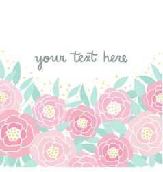 cute pink peonies vector image
