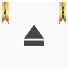 Eject or open player icon vector