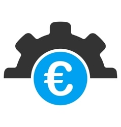 Euro Technology Flat Icon vector image