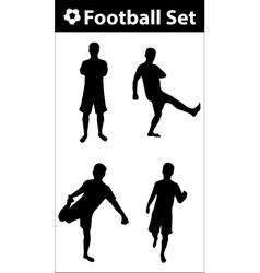 Football silhouette set vector