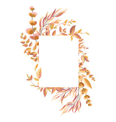 frame with autumn leaves and branches vector image