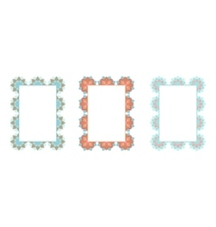 Frames with oriental pattern vector image