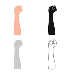 Gesture single icon in cartoon stylegesture vector