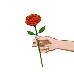 giving a rose vector image