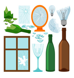 Glass garbage collection vector