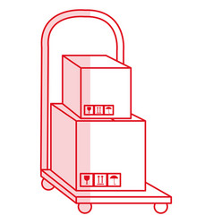 handle cart delivery service vector image