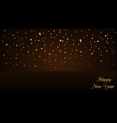 happy new year background with magic gold rain vector image