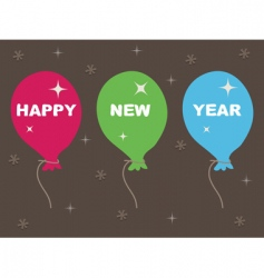happy new year balloons vector image vector image