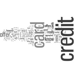 how to know if a credit card offer is for you vector image