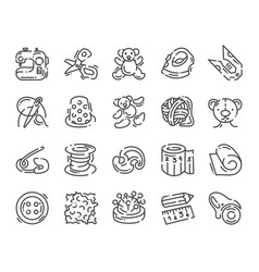 icon about sewing toys and needlework isolated vector image