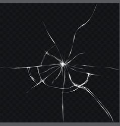 in realistic style broken vector image