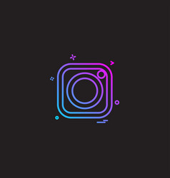 Instagram icon design vector