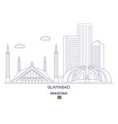 Islamabad city skyline vector