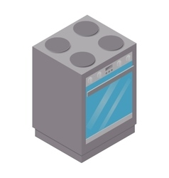 isometric stove icon vector image