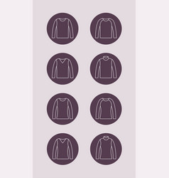 jumper outline icon vector image