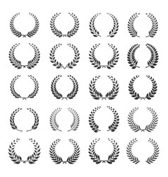 laurel wreath icon set vector image