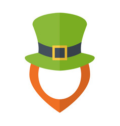leprechaun hat and dginger beard and empty face vector image