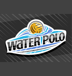 logo for water polo sport vector image