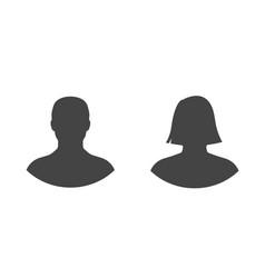 Male and female profile picture silhouette vector