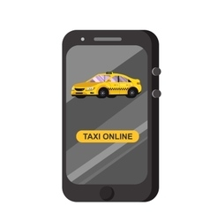 Modern flat Taxi online application vector