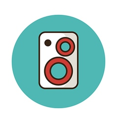 Music speakers icon vector