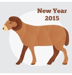 New Year of the Goat or Sheep 2015 polygonal vector