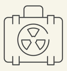 nuclear case thin line icon nuclear safety vector image